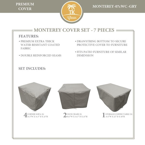 Monterey 7 Piece Water Resistant Patio Furniture Cover Set by TK Classics
