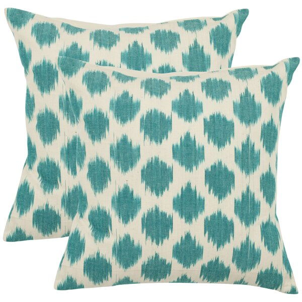 Jillian Cotton Throw Pillow (Set of 2) by Safavieh