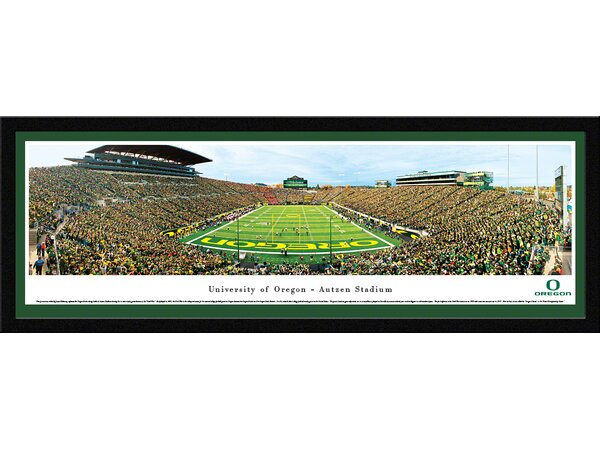 NCAA Oregon, University of - Civil War by James Blakeway Framed Photographic Print by Blakeway Worldwide Panoramas, Inc