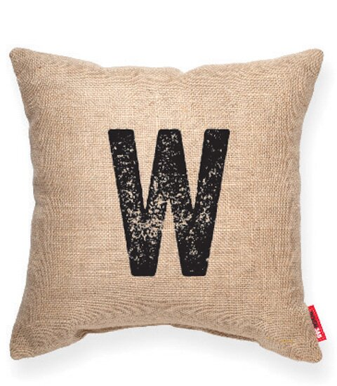 Domaine W Burlap Decorative Pillow by Gracie Oaks