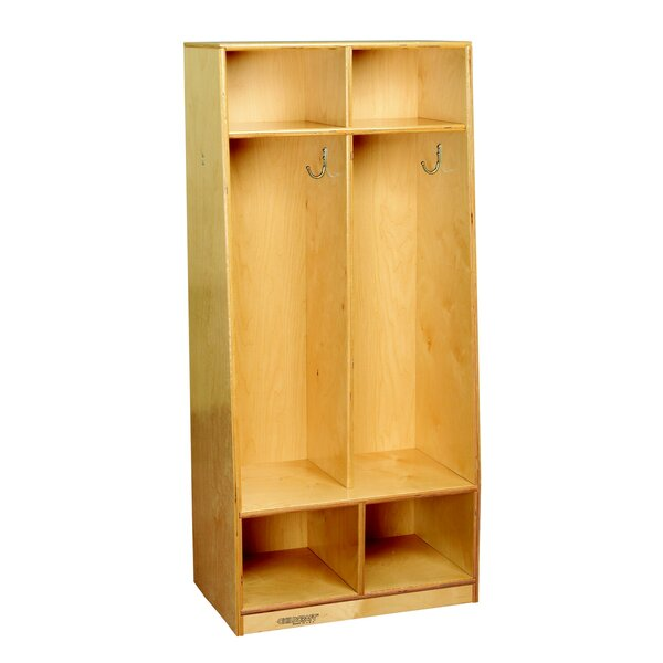 3 Tier 2 Wide Coat Locker by Childcraft
