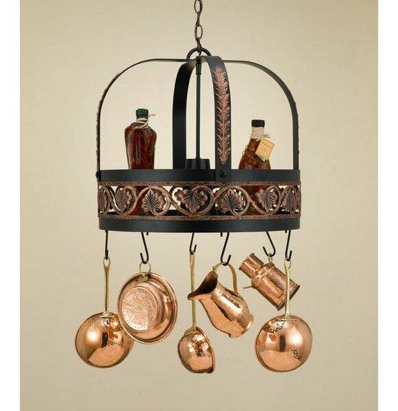 Leaf Hanging Pot Rack with Light by Hi-Lite