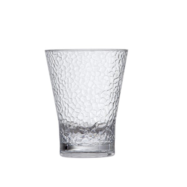 Hammered Double Old Fashioned 15 oz. Plastic Cocktail Glass (Set of 6) by D&V