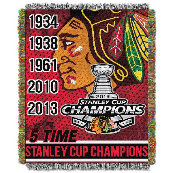 NHL Commemorative Throw Blanket by Northwest Co.