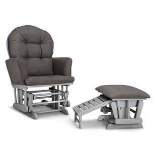 Parker Semi Upholstered Nursing Glider & Ottoman Graco