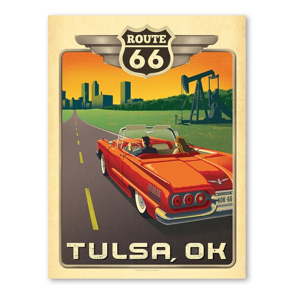Tulsa Route 66 Vintage Advertisement by East Urban Home