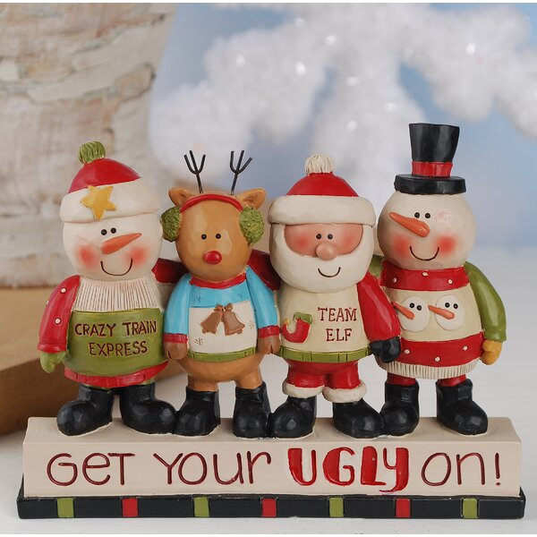Snowmen, Reindeer and Santa Figurine by The Holiday Aisle