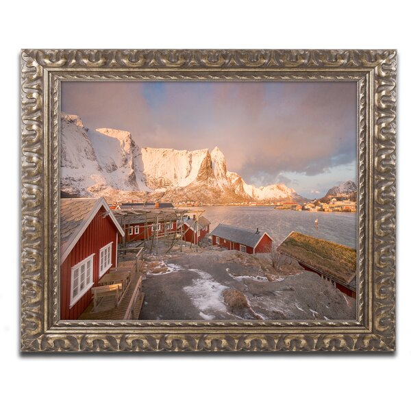 Welcome to Reine by Philippe Sainte-Laudy Ornate Framed Photographic Print by Trademark Fine Art