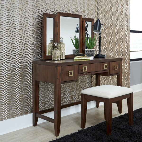 Layton Vanity Set with Mirror by Ivy Bronx Ivy Bronx