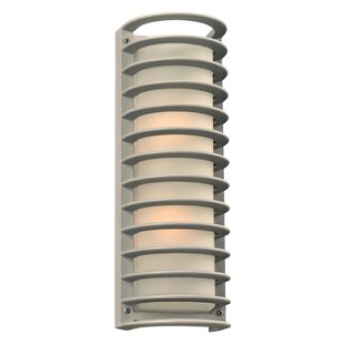 Read Reviews Lutton 2-Light Outdoor Flush mount By Ebern Designs
