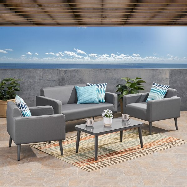 Palos 4 Piece Sofa Seating Group with Cushions
