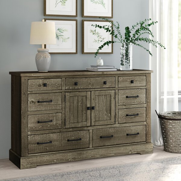 Arthurs 9 Drawer Combo Dresser By Lark Manor by Lark Manor 2020 Sale