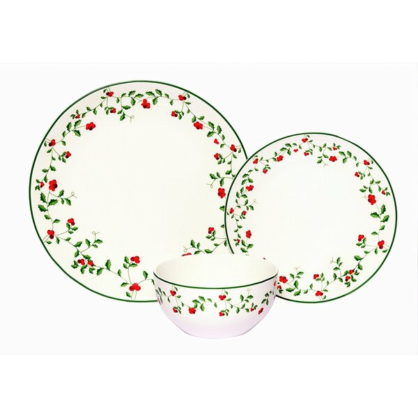 Alphonsine Winterberry Porcelain Coupe 18 Piece Dinnerware Set, Service for 6 by August Grove