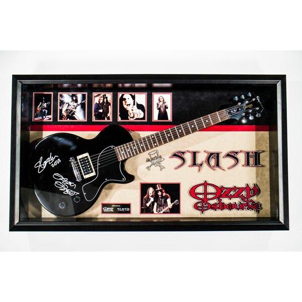 Custom Framed Epiphone Les Paul Junior Guitar Autographed by Ozzy Osbourne & Slash by Brayden Studio