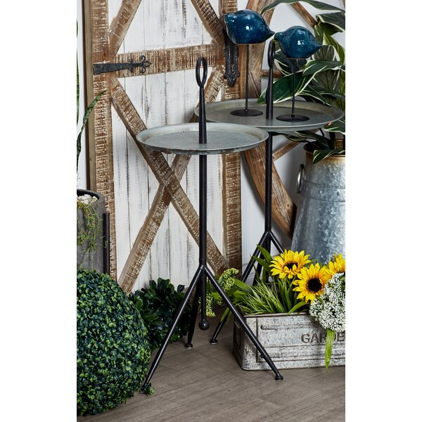 Knollcrest Modern Tripod Round Tray Table by Charlton Home