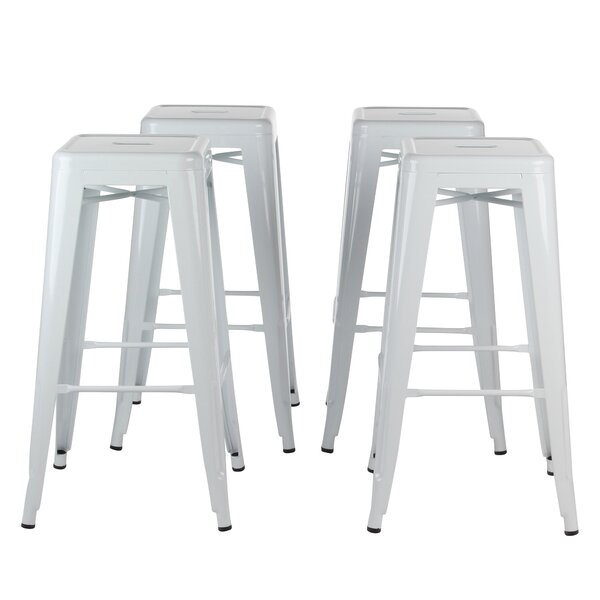 Norberg Metal Industrial 30 Bar Stool (Set of 4) by Brayden Studio