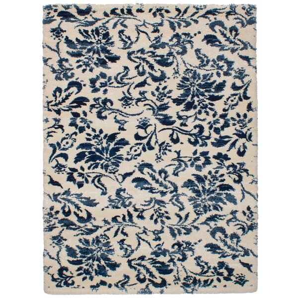 Deshazo Cream/Blue Area Rug by Red Barrel Studio
