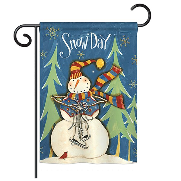 Winter Wonderland Impressions 2-Sided Polyester 1.5 x 1 ft. Garden Flag by Breeze Decor