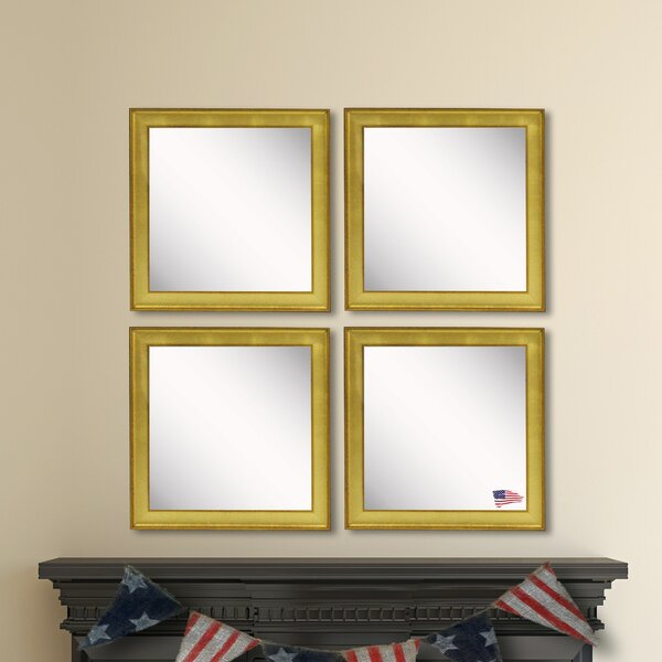 Nikodemos Accent Mirror (Set of 4) by House of Hampton