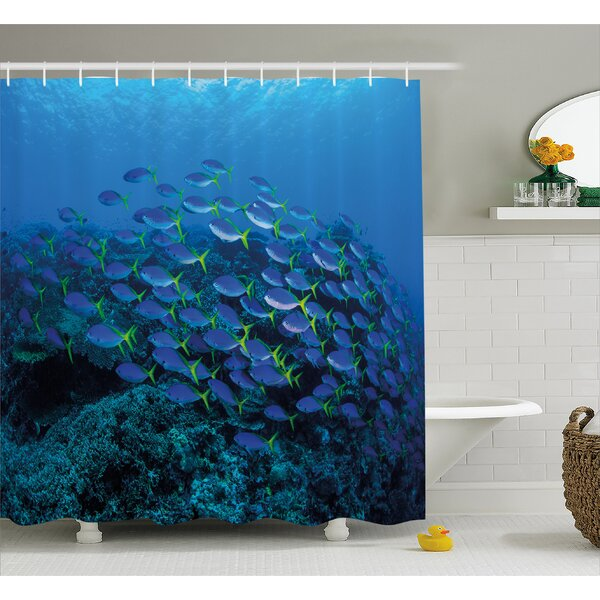 Shoal of Fish Decor Shower Curtain by East Urban Home
