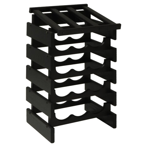 Dakota 15 Bottle Floor Wine Rack by Wooden Mallet