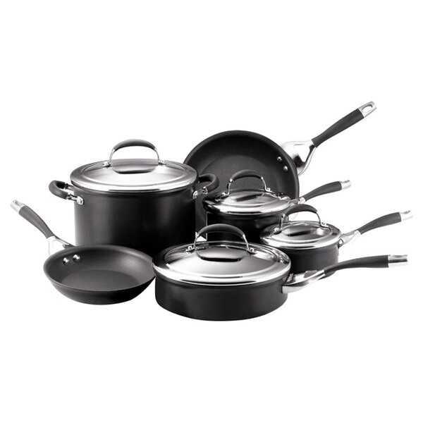 Elite Aluminum 10 Piece Cookware Set by Circulon