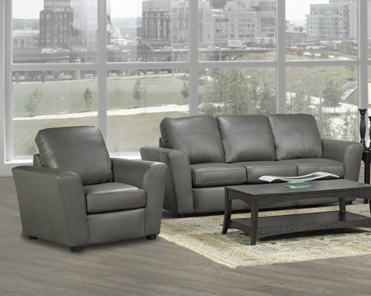 Delta Leather Configurable Living Room Set by Coja