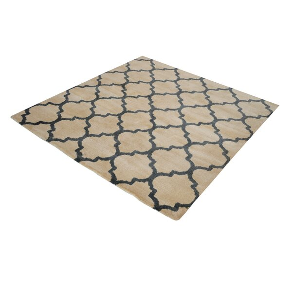 Oreland Hand-Woven Natural/Black Area Rug by Charlton Home