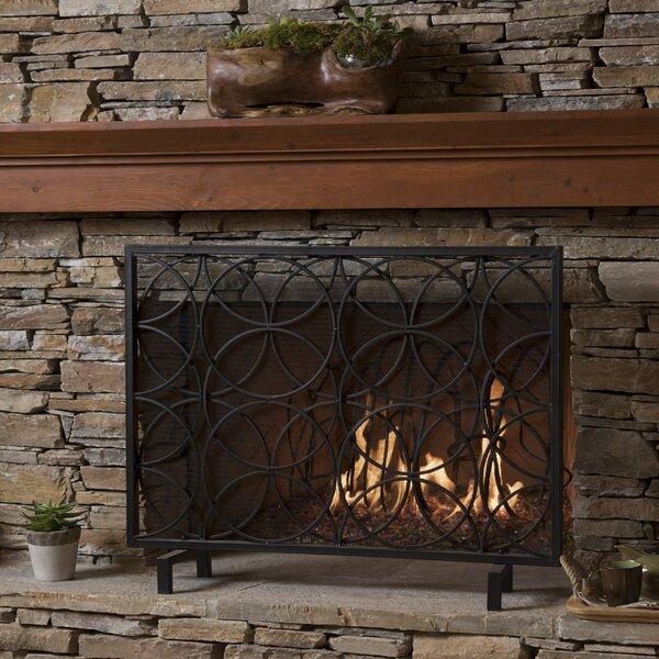 Thayer Single Panel Iron Fireplace Screen By Winston Porter