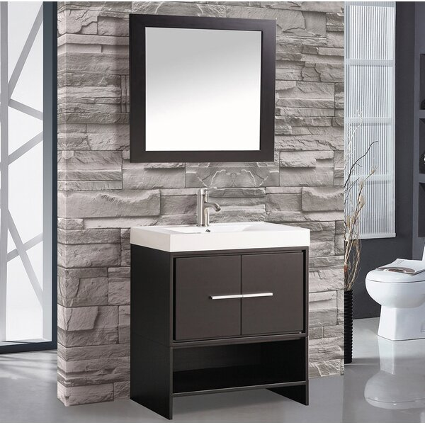 Peirce 30 Single Bathroom Vanity Set with Mirror by Orren Ellis