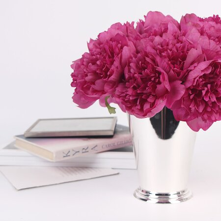 Luxury Silk 5 Peony Bouquet by G Home Collection