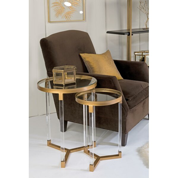 Kemah 2 Piece Nesting Tables By Everly Quinn