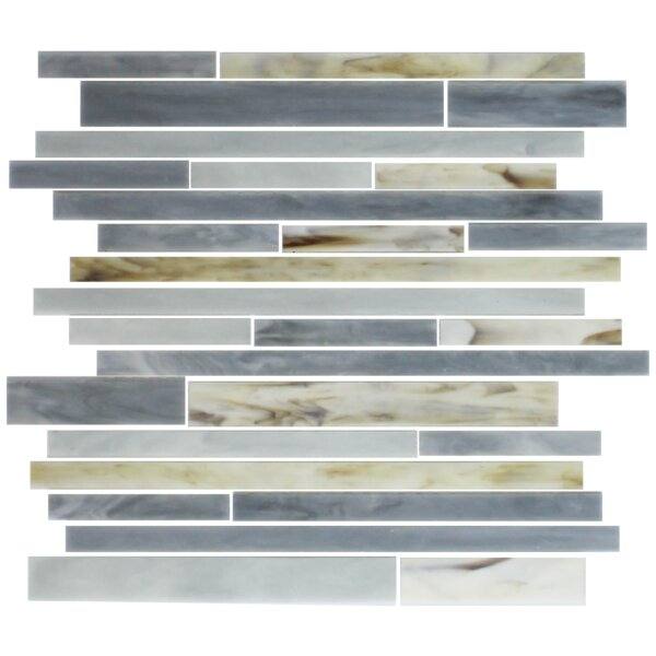 Stix Stained Random Sized Glass Mosaic Tile in Oyster Gray by Susan Jablon