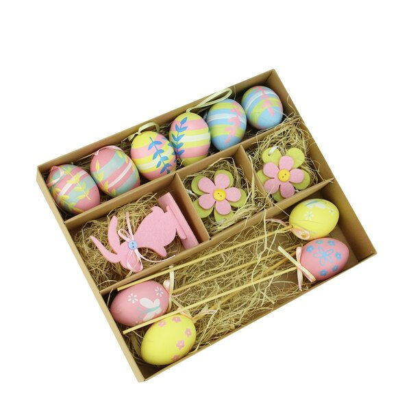 13 Piece Easter Egg, Flower and Bunny Spring Decoration Set by Northlight Seasonal