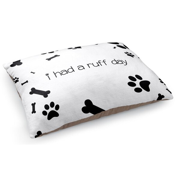 Ruff Day Pet Pillow by KAVKA DESIGNS