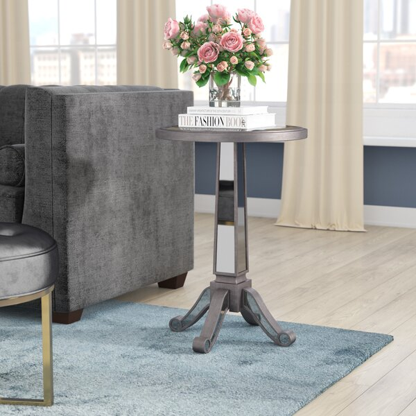 Corby Pedestal End Table by Willa Arlo Interiors