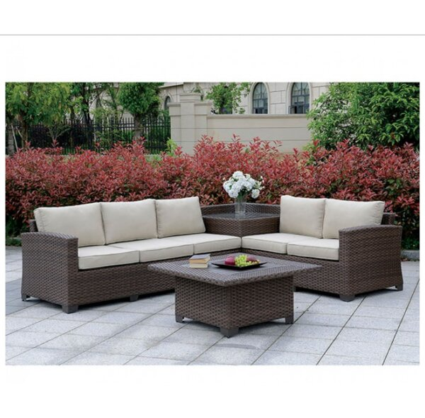Mcintyre 6 Piece Rattan Sofa Seating Group with Cushions by Gracie Oaks