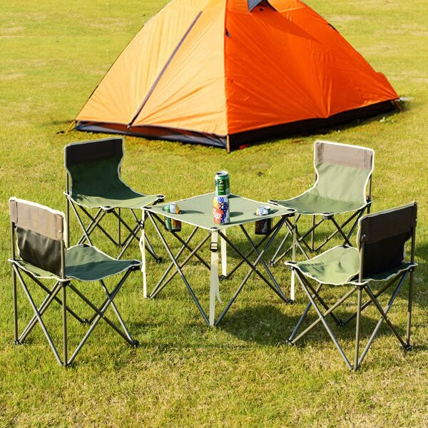 Clarkston Folding 5 Piece Camping Table Set by Freeport Park