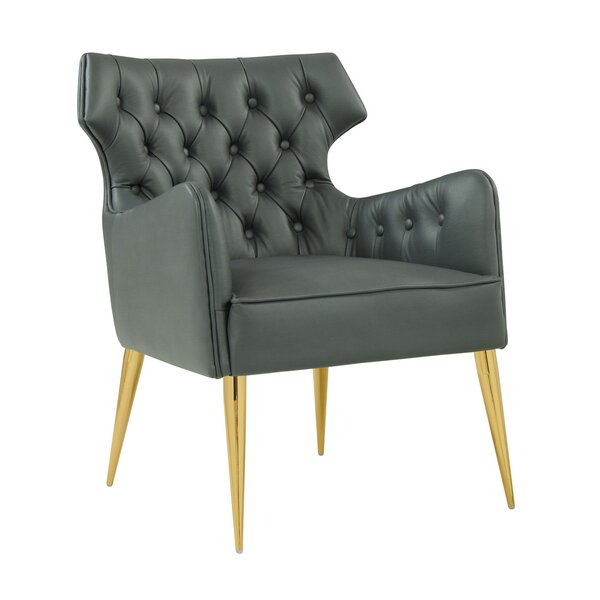 Les Leather Armchair by Everly Quinn