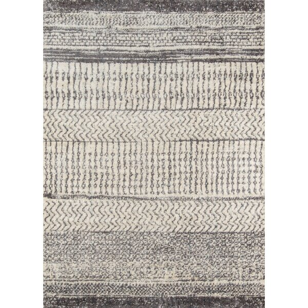 Danny Gray/Ivory Area Rug by Mistana