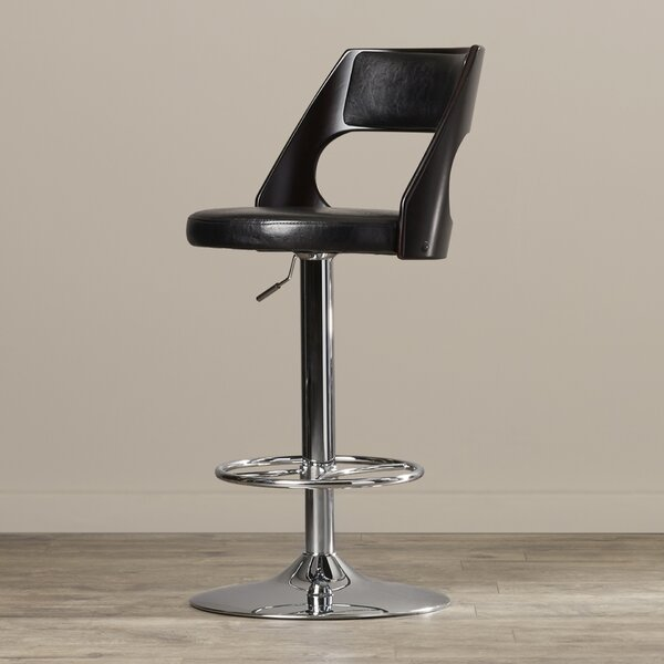 Conejara Adjustable Height Swivel Bar Stool by Langley Street