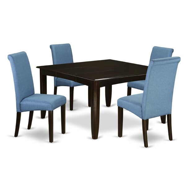 Lexie Square Kitchen Table 5 Piece Extendable Solid Wood Dining Set By Winston Porter Comparison