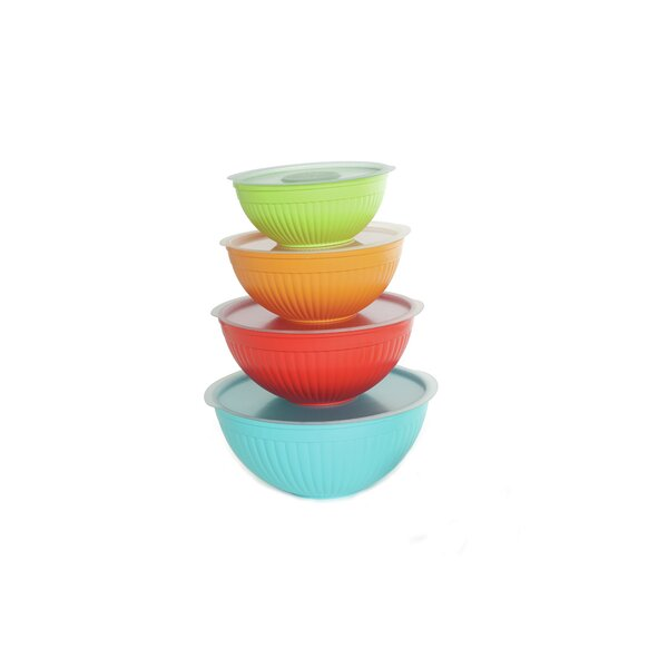 8 Piece Covered Bowl Set by Nordic Ware