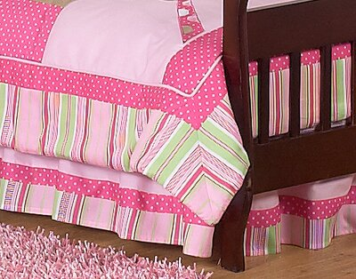 Jungle Friends Toddler Bed Skirt by Sweet Jojo Designs