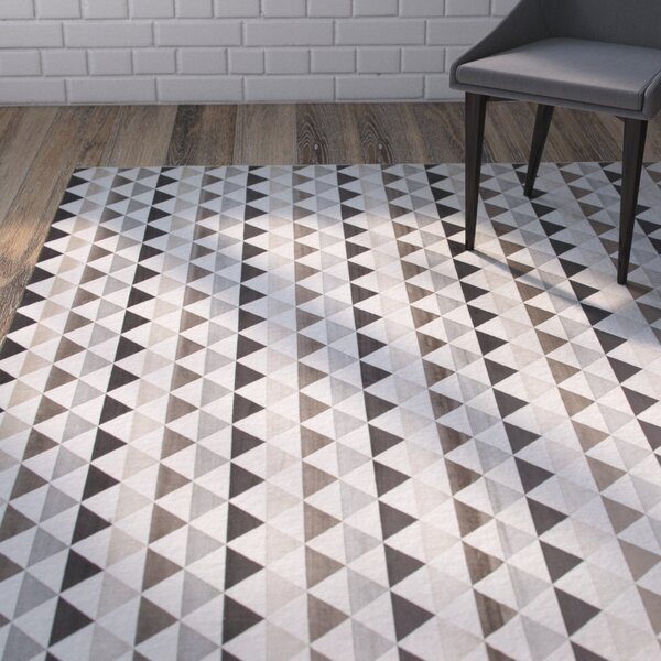 Foulds Ivory/Charcoal/Brown Area Rug by Brayden Studio