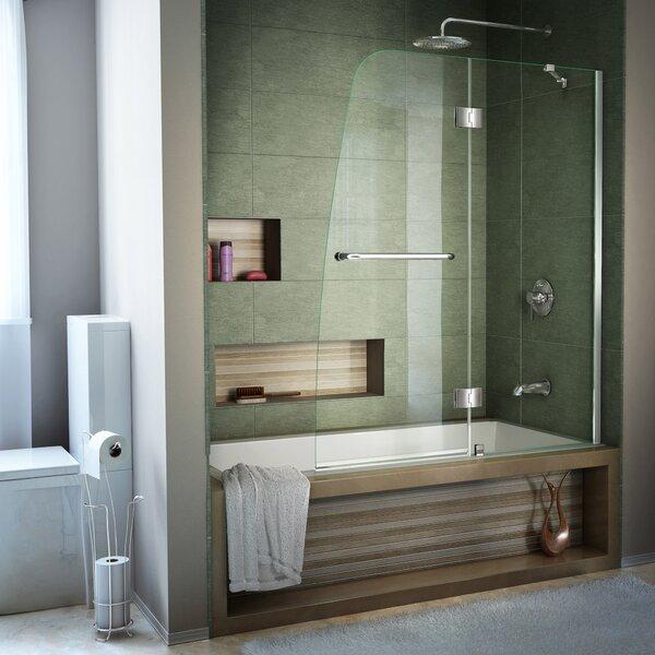 Aqua 48 x 58 Hinged Semi Frameless Tub Door by DreamLine