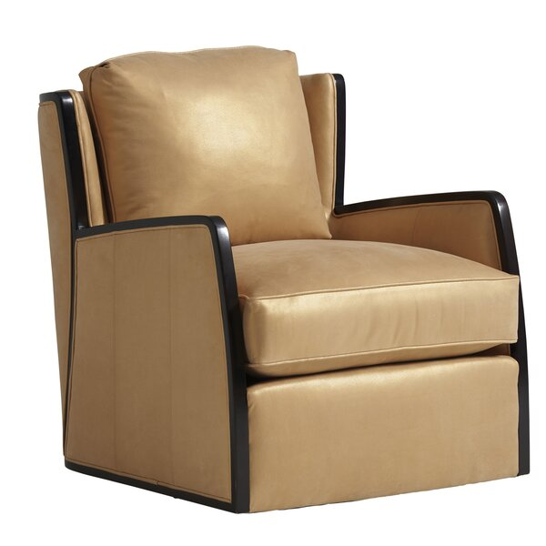 Review Delancey Leather Swivel Armchair