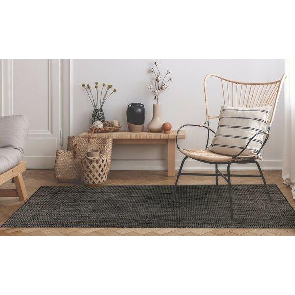 Desantiago Texture Stripe Gray Indoor/Outdoor Area Rug by Highland Dunes