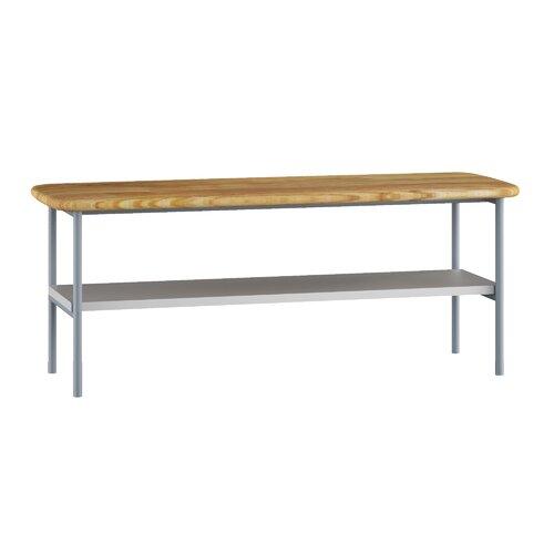Luitpold Storage Bench Ebern Designs Finish: Light Grey/Natu