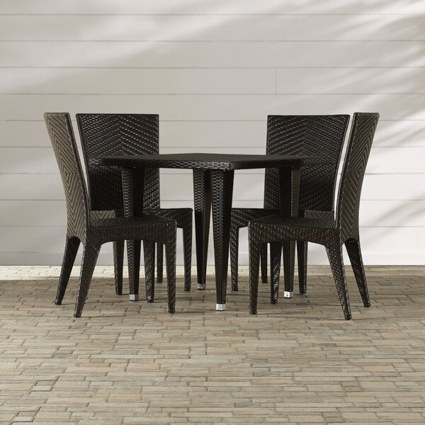 Morphis 5 Piece Dining Set by Mercury Row